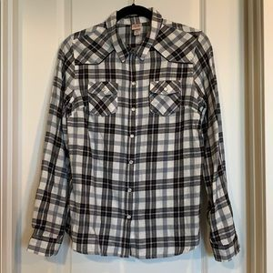 Mossimo black and white flannel